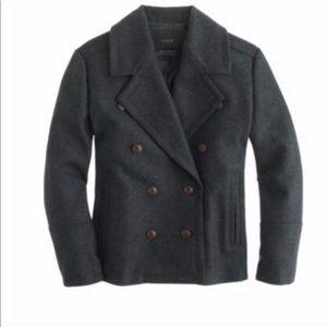 J. Crew gray Melton wool peacoat jacket